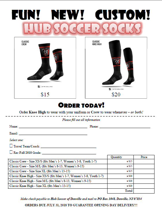 Socks Order Form